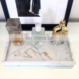 Modern Acrylic hotel marble tray,marble serving tray,white marble tray