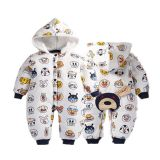 With Pocket Designer Newborn Baby Clothes Animal Pattern