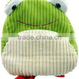 Kids soft frog shaped plush backpack