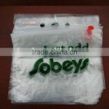 Virgin LDPE Reclosable Plastic ziplock saddle bag deli bag with Printed Logo for packing food