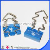 Tree shape handle with logo printed on binder clip 25mm