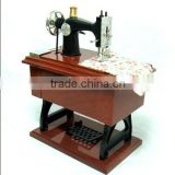 Novelty miniature craft sewing machine music box for kids and music box for girlfriend gift
