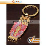 Customized metal wine bottle opener keychain