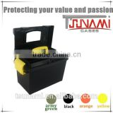 Custom blow molding plastic utility box latches plastic electronic box for tools packaging