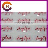 Small MOQ brand name gel Self-Adhesive 3-D clear make custom crystal window transparent sticker