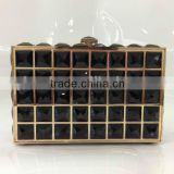 Factory wholesale mysterious black stone clutch bags dinner bags designer clutch handbags