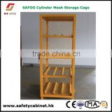 Manual Close Mesh Gas cylinder Storage Cage horizontal for gas, propane and oxygen cylinders