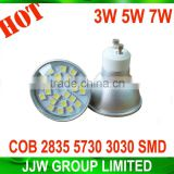 Factory direct sales gu10 led light 5050 smd 6000k 6500k pure white 7W gu5.3 led spot light for ourdoor lighting