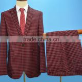 2016 new product High Quality wholesale oem factory Hand Made stripe check Woolen Wedding Man business Suit