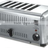 electric 6 slice long slot toaster machine