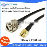 New RP-SMA Male Plug Connector Switch TNC Male Plug Convertor RG58 50cm wholesale for wifi router