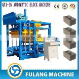 QT4-25 fly ash,breakstone,concrete,etc. Brick Raw Material and Hydraulic Pressure Method automatic block machine