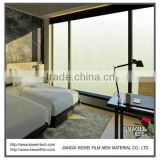 6+6mm Switchable smart glass for hotel, Turn off matte white for privacy.High Tech smart glass