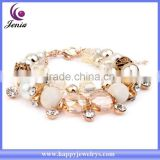New products fashion jewelry beads bracelet bling crystal 18k gold bracelet design for girls ( YWH5057-2)