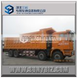 Shacman 8x4 380HP 50ton right hand drive left hand drive standard heavy dump truck dimension