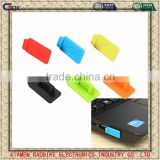 Colorful silicone anti dust stopper cover for macbook connect or usb dust plug