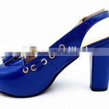 latest high class middle heel slingback Sandals with net for office lady