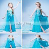 TOP New hot sales Frozen Elsa Costume girls Princess elsa dress cosplay costume in frozen BC205