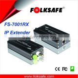 Active IP camera signal extender over coax cable, Folksafe active device ethernet and power signal receiver