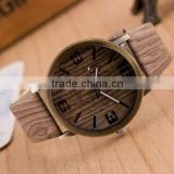 Genuine Leather High-end Custom Wooden Case Watch, Quartz Mov Timepieces