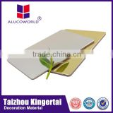Alucoworld brush panel acm walls panels for rv exterior design 4mm aluminum plastic material