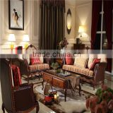 import solid wood leather sofa furniture sets/modern american style home livingroom furniture AS29