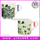 White Bone China Color Changing Tea Mug Milk Mug Bulk Buy From China