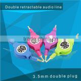 2015 Hot selling retractable xnxx video converter usb aux cable media player cu for wholesale