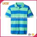 2016 Guangzhou New Fancy Design Summer Casual 200g 100% Cotton Stripe Short Sleeve Plain Boys Polo Shirt