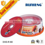 RISENG 8x 4.7GB 120MINs silver blank disk/printed wedding red offsetting disk blank/princo blank dvd guangzhou providing