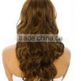 "AAAAA Grade hot selling 20"" 33# Body curl synthetic lace front wig accept paypal & escrow payment"