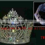 fashion glitter crystal king crown for sale