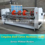 China paper board open the grooving , cutting the corner and rolling the line machine