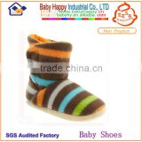 High Quality Wholesale Soft Sole Breathable Stripe Pattern Baby Sock Boots for 0-24 months little babies