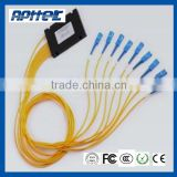 1*2 ,1*4,1*8 ,1*16,1*32, 1*64 box style PLC Optical Splitter with pigtail SC/ST/FC interface