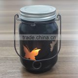 Promotion gift decorative led blink butterflly festival glass jars