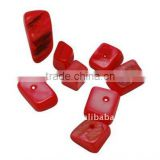 Freshwater Shell Loose Beads, Dyed, Red(BSHE-S007-13)