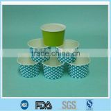 Customerized printing ice cream paper food container/ Logo printed ice cream paper bowl manufacturer and factory