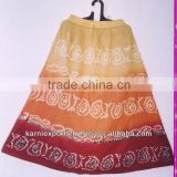 "Cotton tie & dye bandhage skirts circular gypsy ghaghara skirts womens wear jaipur skirts indian bandhani hand tie & dye 32""long"