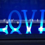 3D metal channel led LED light up LOVE wedding and events letter sign