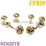 Custom knot cufflink and studs sets with gold plating