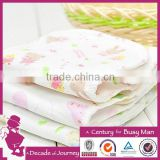 2015 New Arrival 100% cotton fabric water transfer printing gauze style for baby diapers wholesale