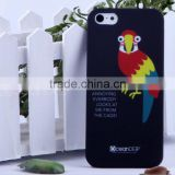 Funny birds pc hard rubberized water transfer case for iphone5 mobile phone case new product for 2013