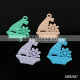 Fashion boat necklace pendant fluorescent charm connector