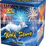 High grade high quality birthday cake candles firework 0.8'' 12 Shots Crackling CoCo fireworks
