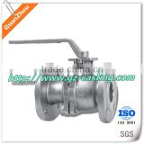 Alibaba 2015 China made Stainless steel flange fixed ball valve with metal seal from Guanzhou foundry