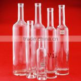Hot selling glass wine 750ml bottles tamper evident cap liquor bottles bullyest boyles round bottles