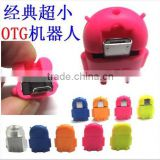 Android robot usb to micro usb otg adapter for samsung galaxy s3 s4 htc sony