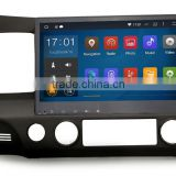 Cheap 10.2 inch DDR3 1GB android Black Colored car gps audio navigation system for Honda Civic 2009 2011