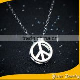 Wholesale 925 Sterling Silver Jewelry Anti-War Peace Signs Crystal Beads for Pendants Necklace (AN-005)
